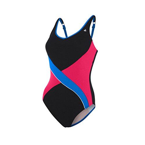 Aqua Sphere - Bañador de Mujer Gretna, Mujer, Gretna, Negro y Azul Claro