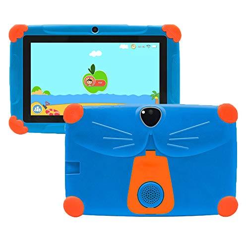 Tableta infantil de 7 pulgadas, 3 GB + 16 GB, Android 9, control de padres, pantalla HD, protección para los ojos, soporte a prueba de caídas, preinstalado, para niños, con certificación GMS