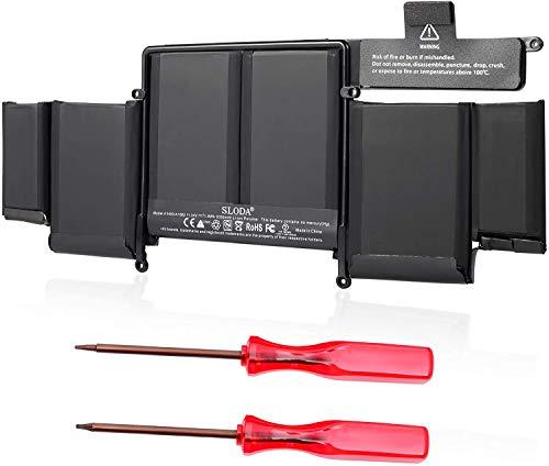 SLODA Laptop Ersatz Akku Kompatibel mit MacBook Pro Retina 13