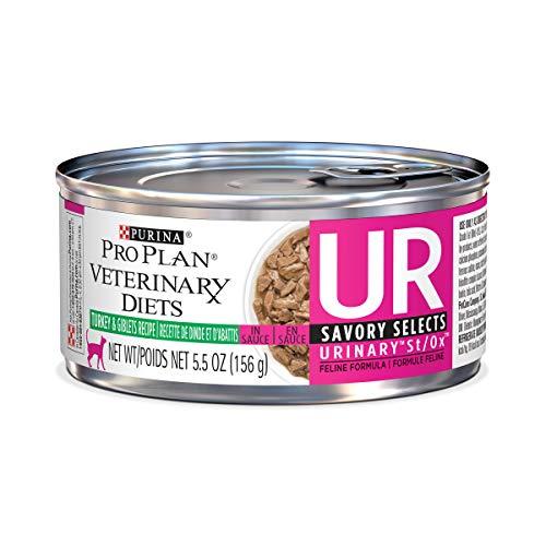 Purina Pro Plan Veterinary Diets UR Urinary St/Ox Savory Selects Feline Formula Turkey & Giblet...
