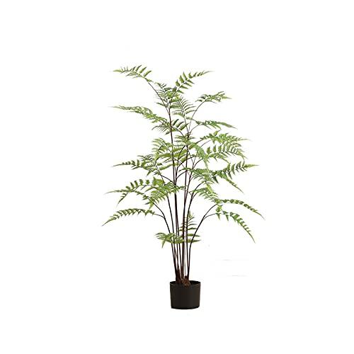 árbol de pino artificial artificial bonsai Árbol de hoja de helecho verde artificial, decoración artificial artificial de 47 pulgadas, árbol falso para la oficina en casa. Planta de bonsái ficus para