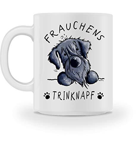 Frauchens Trinknapf Schnauzer Hund Kaffeetasse I Frauchen Hundemama Geschenk I Hundemotiv - Tasse -M-Weiß