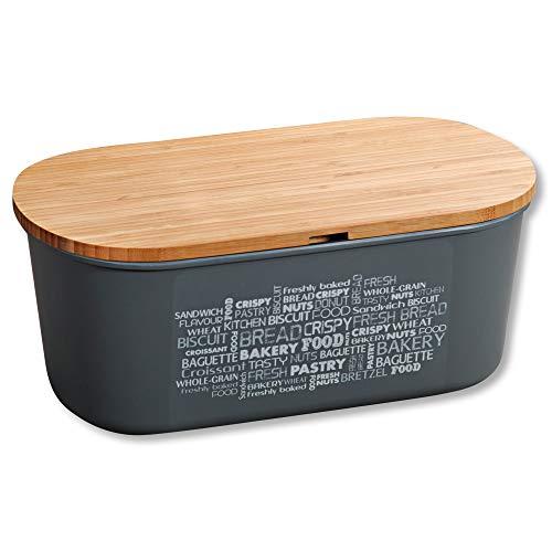 Kesper 58501 Boîte à pain, Gris