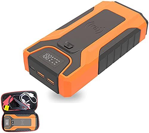 JYZT Kit Arrancador De Coches De 12 V, Booster De Batería De Arranque De Emergencia Exterior De 16000 MAh con Luz LED Y Puerto USB, Cargador De Batería De hasta 6,0 L Gasolina / 3,0 L Diésel