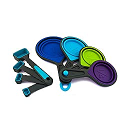 Runner Up for Best Collapsible Measuring Cups: ingeniuso Collapsible Measuring Cups & Measuring Spoons