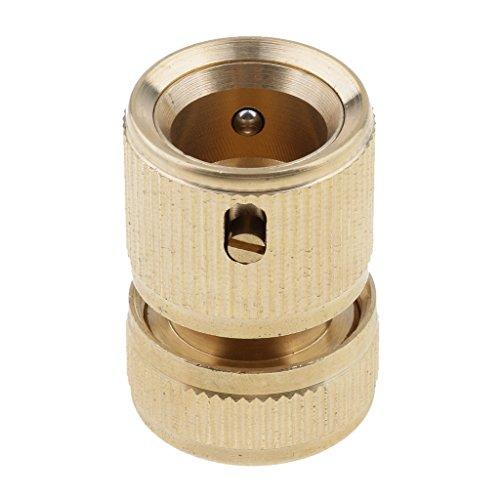 Baoblaze Conector de Grifo de Manguera de Latón Tubería de Agua de Jardín Roscada Accesorios de Adaptador Rápido Boquilla de Cabeza de Rociador - 25mm OD x 6cm L