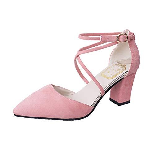 Minetom Donna Sandali di moda 38 EU Rosa