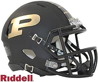 Purdue Boilermakers Black Matte Finish Riddell Speed Mini Football Helmet - New in Riddell Box