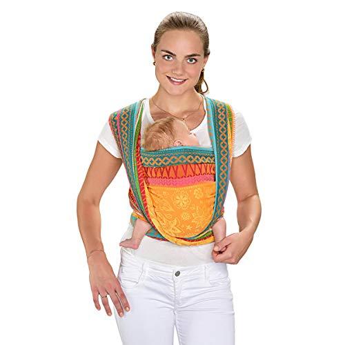 HOPPEDIZ Jacquard - Pañuelo portabebés multicolor Sunny Mind Talla:4,60 x 0,70 m