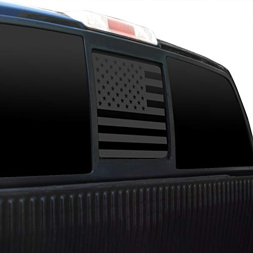 Bogar Tech Designs Rear Middle Window American Flag Vinyl Decal Compatible with...