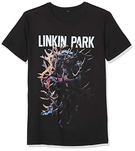 MERCHCODE Herren Linkin Park Heart Tee T-Shirt, Black, XXXL