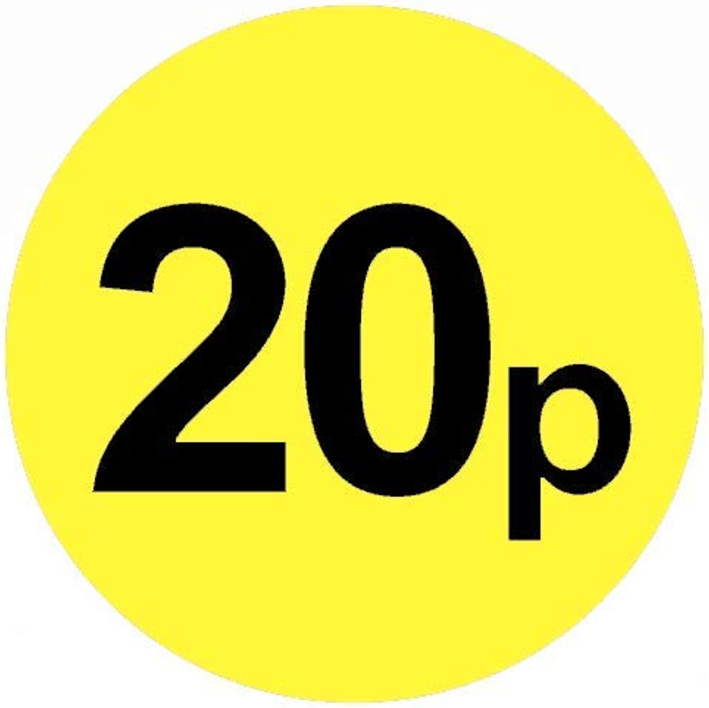 Price stickers £ gituttio & nero - 45mm, 20p, 10000