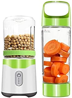 Hefacy Mini tasse portable pour jus de fruits, machine de cuisine, multifonction, presse-agrumes électrique à 6 feuilles d...