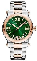 Diamond Happy Sport Quartz 36mm Green Dial Watch 278582-6006