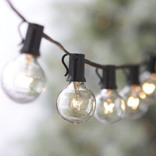Globe Festoon String Light Bulb 27Ft G40 Indoor Outside Waterproof Lixada, Warm White