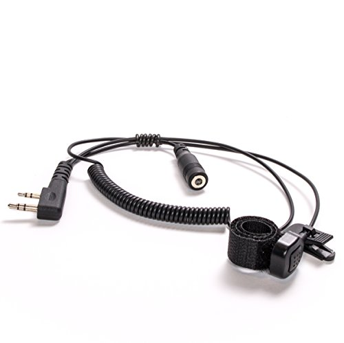 BTECH 2 Pin (K1 Connector) to 3.5MM Adapter with Push-to-Talk Button (Compatible with 2 Pin BaoFeng, Kenwood, BTECH Radios to 3.5mm Headsets with in-line Mics)