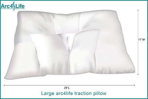 Arc4life Cervical Neck Traction Pillow for Sleeping - King Size Side Sleeper and Back Pillows for Beds Neck Pillow for Sleeping Standard Neck Pillow for Sleep Large 28'x17'