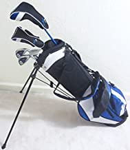 Boys Right Handed Junior Golf Club Set with Stand Bag for Kids Ages 8-12 Premium Jr. Professional Quality