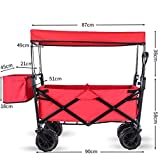 SHARESUN Beach Wagons with Big Wheels for Sand Heavy Duty,Shopping Carts for Groceries,Push And Pull...