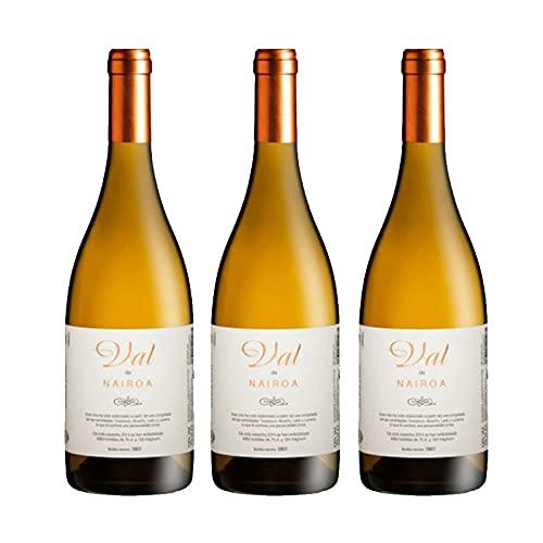 Vino blanco Val de Nairoa de 75 cl - D.O. Ribeiro - Bodegas Nairoa (Pack de 3 botellas)