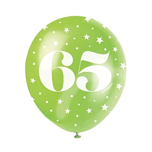 Leeftijd Verjaardag Ballon Party Decoraties Aantal Age 65 Geel