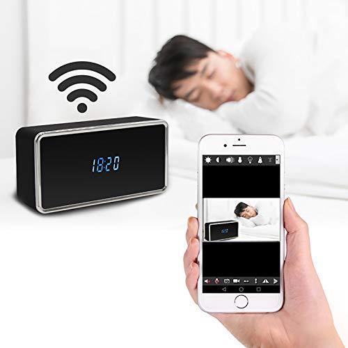 WFGZQ Reloj con Cámara Espía, Cámaras Secretas Ocultas WiFi para Interiores, Cámara Espía 1080P con Visión Nocturna Mejorada Y Detección De Movimiento, para El Hogar Y La Oficina