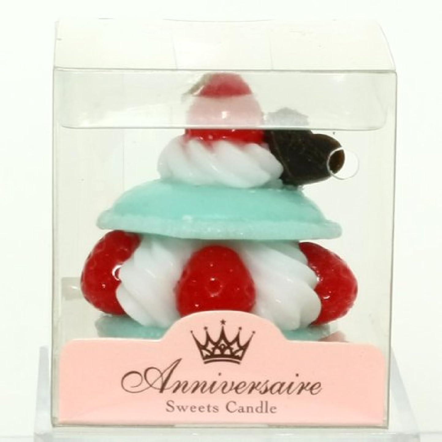 ポップベンチベーススイーツキャンドル(sweets candle) マカロンケーキキャンドル【ミント】