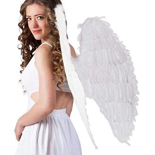 Boland 52802 – Ailes d'ange blanches, env. 87 x 72 cm, pêche, décoration, Noël, Saint-Valentin, carnaval, Halloween, fête à thème, costume, théâtre, accessoire, déguisement