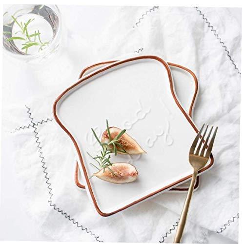 AMOYER Forma de cerámica Placas de Comida 1pc Platos de Navidad vajilla Bandeja de Año Nuevo Decoración Herramientas de Cocina para la Comida campestre