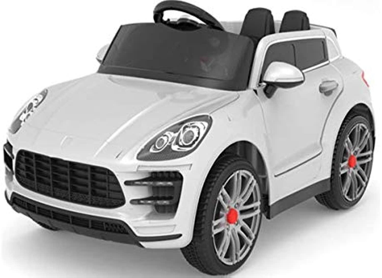 bambino Le Auto elettrica Tipo Porsche Macan con Doppio Motore Batteria 12V R C mp3 Radio USB (Rosso)