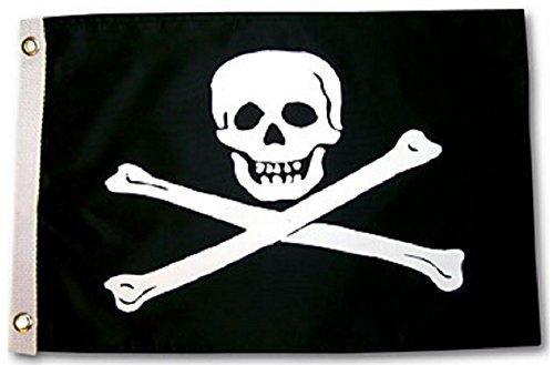 Pirate Jolly Roger Outdoor Garden Flag 12X18in