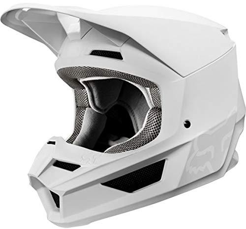 FOX V1 Matte Motocross Helm Weiß Matt XL