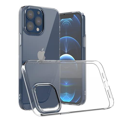 Camste Funda transparente compatible con iPhone 13 Pro Max de suave TPU ecológico antigolpes – Soporta la carga inalámbrica, no amarillea