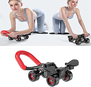 Fyrhjulig bukhjul med handstöd hushållsrullar fitnessutrustning för män och kvinnor lijiaxin