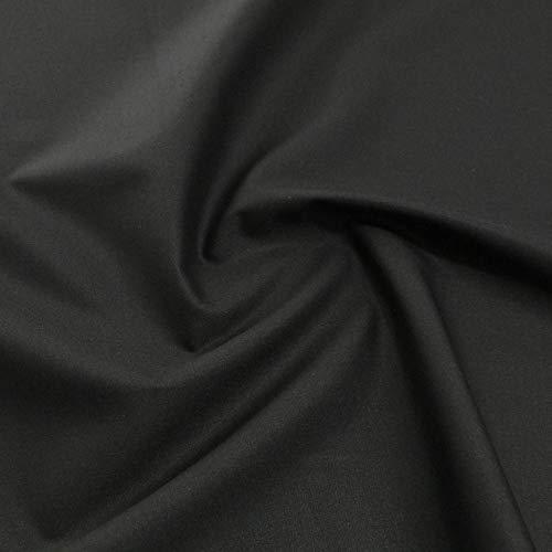 TOLKO Baumwollstoff aus Oeko-Tex Baumwolle | Bunt kräftige Farben | weiche Baumwoll-Popeline zum Nähen Dekorieren | Kleiderstoff Dekostoff Bezugsstoff Meterware 50cm (Schwarz)