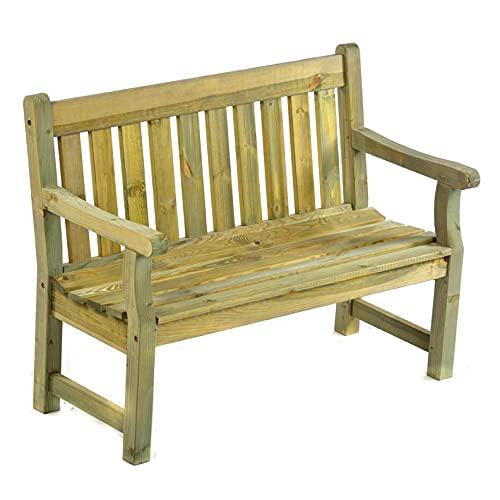 BrackenStyle Darwin Bench - Scandinavian Pine Park and Garden Bench - 2...