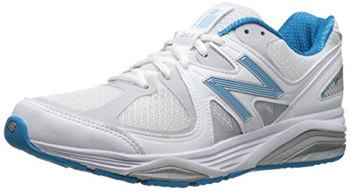 New Balance Women's Made 1540 V2 Running Shoe, White/Blue, 5 W US