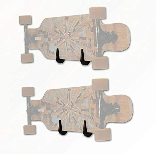TronicXL 2 x Wandhalterung Backside für Skateboard Longboard Snowboard Pennyboard Skateboardhalterung Wand-Halter Zubehör für 2 Boards Longboards Skateboards Snowboards Wand Deko Deck