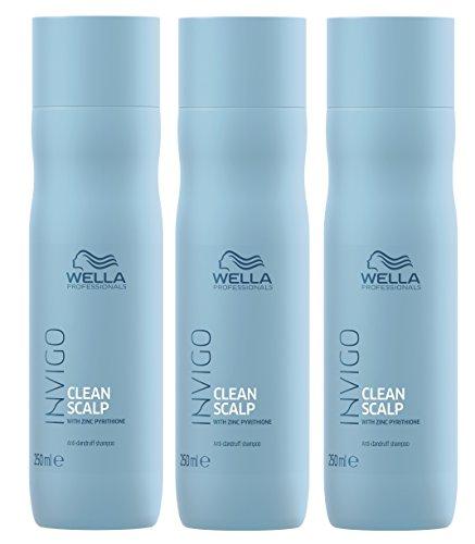 3er Clean Scalp Anti Dandruff Shampoo Invigo Wella Professionals mit Zink Pyrithion je 250 ml = 750 ml