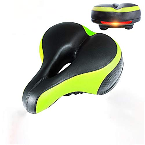 SHUILV Most Comfortable Bicycle Seat, Bike Seat Replacement with Dual Shock Absorbing Ball Wide Bike Seat Memory Foam Bicycle Gel Seat with Mounting Wrench