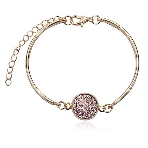 WOVP Armband Mode Vintage Naturstein Charm Bracele Druzy Armreif Armbänder Schmuck Für Frauen Schmuck