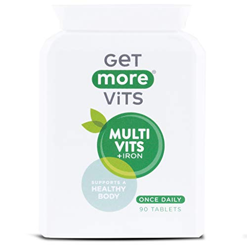 Get More Vits - Multivitamins & Iron Supplement, Vegetarian Friendly, 90 Tablets