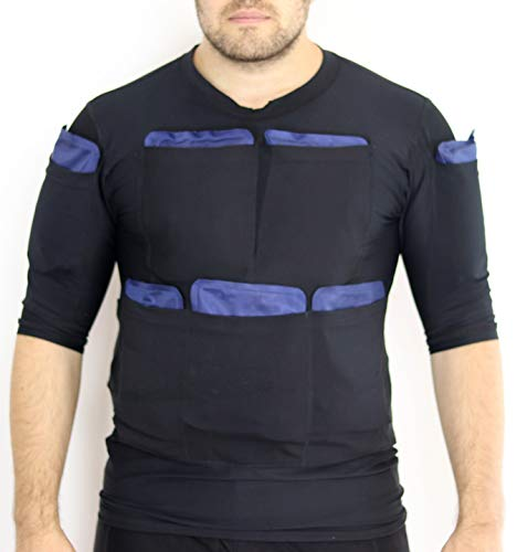 Burn Fat with Cold - Powerful Sliming Cooling Suit Icinger Power 10200G - Also for Muscle Recovery (T-Shirt XL - 22 Pockets (ice Packs not Included))