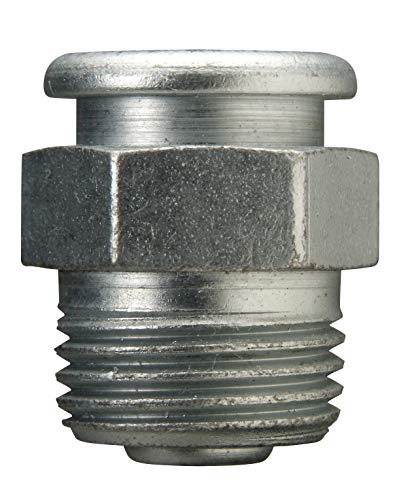Alemite 1820-1 Giant Button Head Fitting, 1-1/16'OAL, 1/2' Shank Length, 15,000 PSI, 1/2' Male NPTF