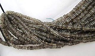 Jewel Beads Natural Beautiful jewellery Smoky Quartz Square Heishi Cut Beads Size 5mm approx, Disc square shape Beads 8 inchesCode:- JBB-41877