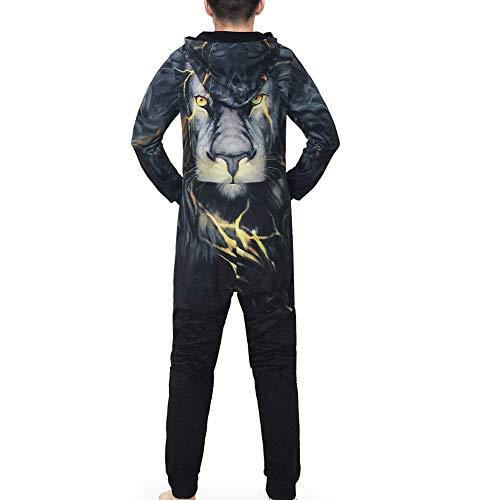 Sweatshirt Herren,SANFASHION Männer Kapuzenpullover Familie 3D Printed Jumpsuit - 2