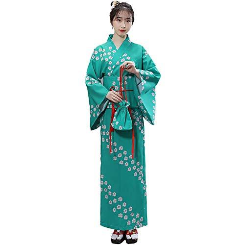 LJLis Damen Retro Yukata Japanese Traditional Kimono Anime Cosplay Nightgown