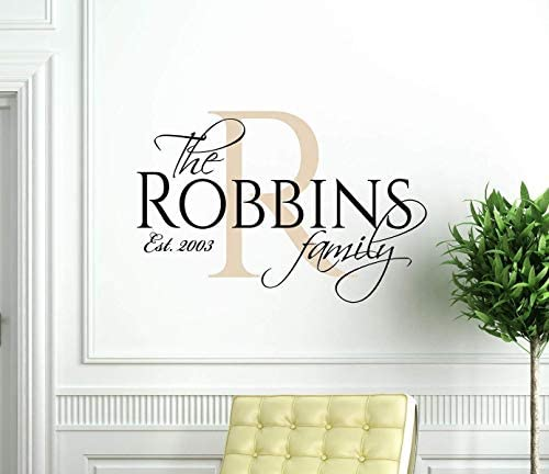 Personalized Family Name Wall Decals of Premium Vinyl stickers for Home and Wall Decor with product image