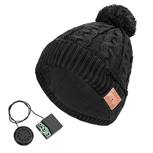 Powcan Gorro Bluetooth, V5.0 Inalámbricos Sombrero Auriculares Beany,...