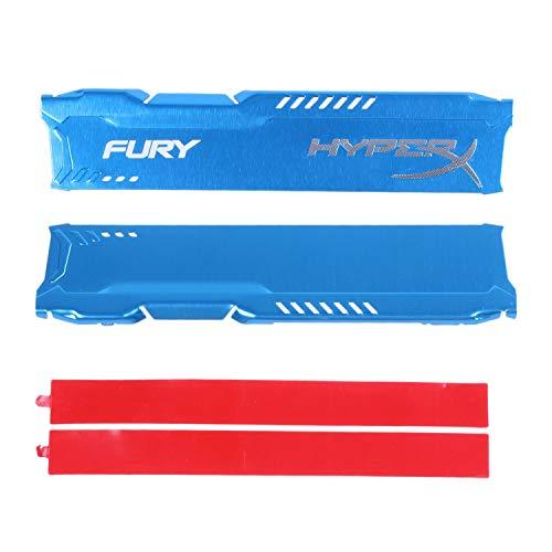 CUHAWUDBA Disipador De Calor RAM Radiador para Ram DDR3 Enfriador De Memoria Disipador De Calor De Enfriamiento Radiador De Memoria De Escritorio DDR2 DDR3 DDR4 Azul